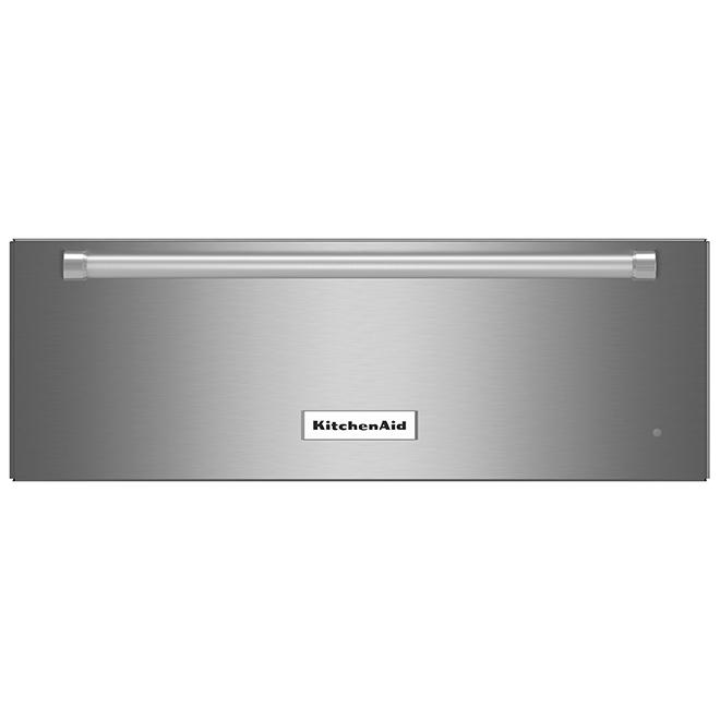 Tiroir réchaud KitchenAid, 27'', 1,3 pi³, acier inoxydable