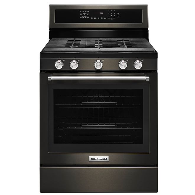Gas Convection Range - 5.8 cu. ft - Black Stainless Steel