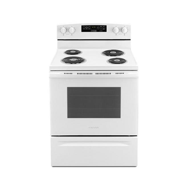 Cuisinière électrique avec autonettoyage, 4,8 pi³, blanc