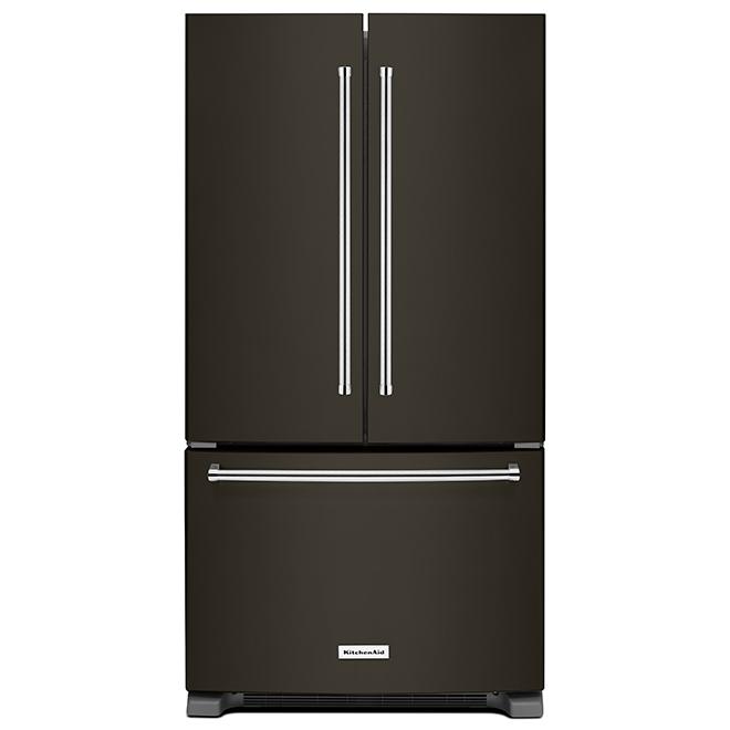 """French Door Refrigerator - 36"""" - 21.9 cu. ft. - Black"""