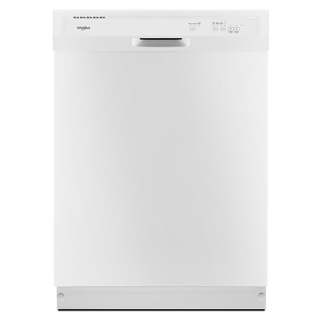 """Lave-vaisselle encastré avec détecteur de saleté, 24"""", blanc"""