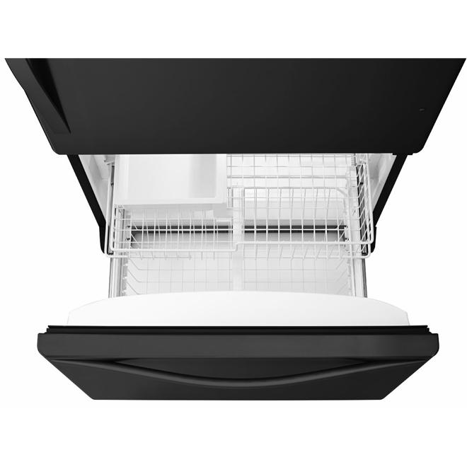 "Bottom-Freezer Refrigerator - 33"" - 22 cu. ft. - Black"