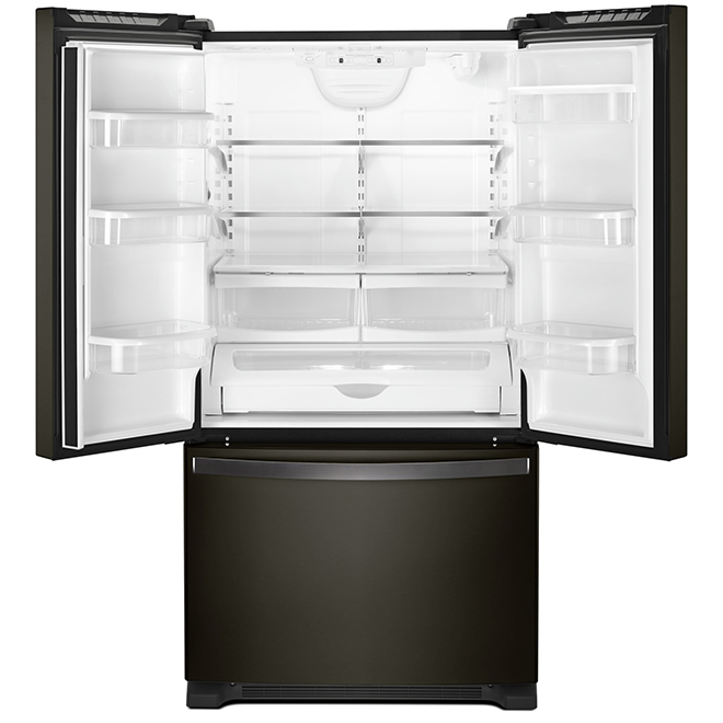 Refrigerator with Dispenser - 25 cu. ft. - Black Stainless