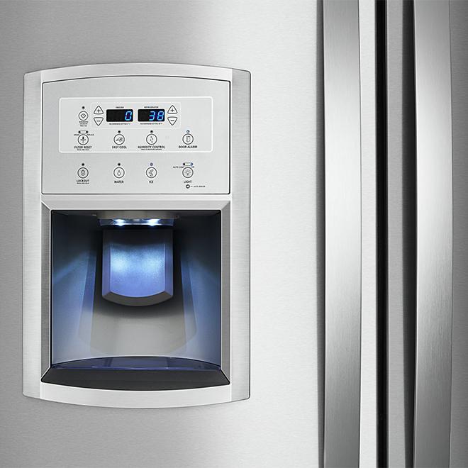 """Réfrigérateur à portes françaises, 36"""", acier inoxydable"""