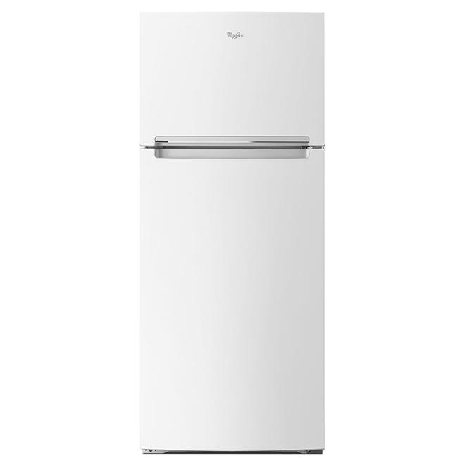 """Réfrigérateur à congélateur en haut, 28"""", 17,64 pi³, blanc"""