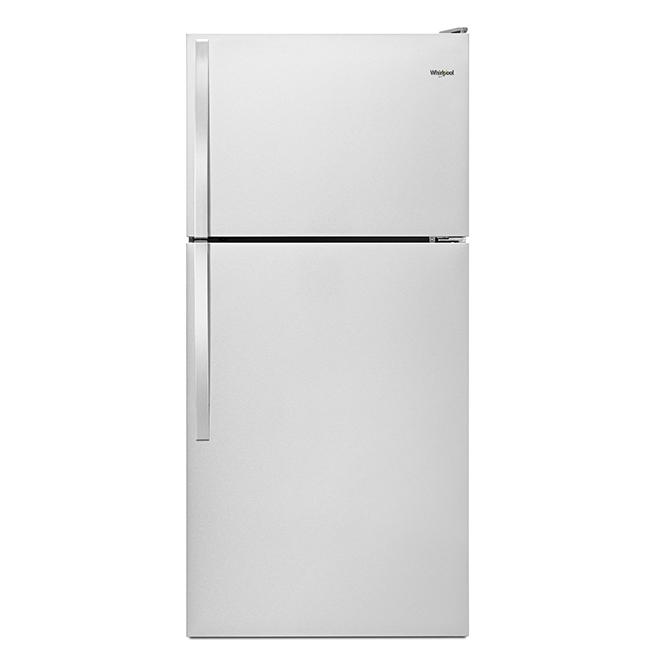 Top-Freezer Refrigerator - 18.0 cu. ft - Monochromatic Steel