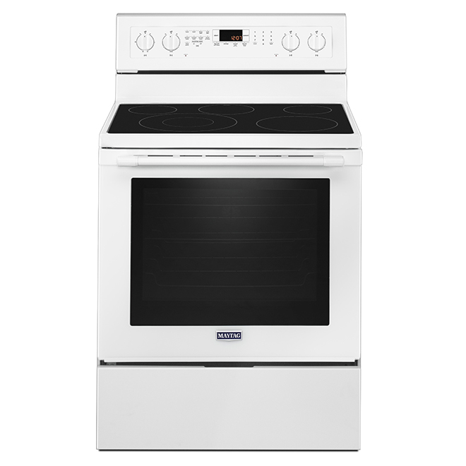Free-Standing Electric Convection Range - 6.4 cu. ft - White