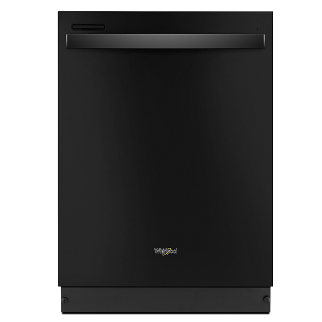 """Built-In Dishwasher with Sensor Cycle - 24"""" - Black"""