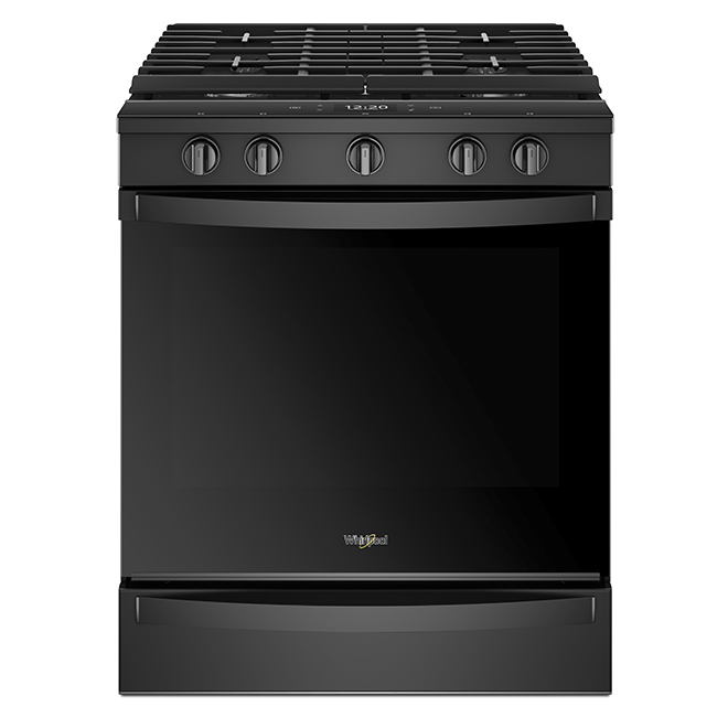 Slide-In Gas Smart Range - 5.8 cu. ft. - Black