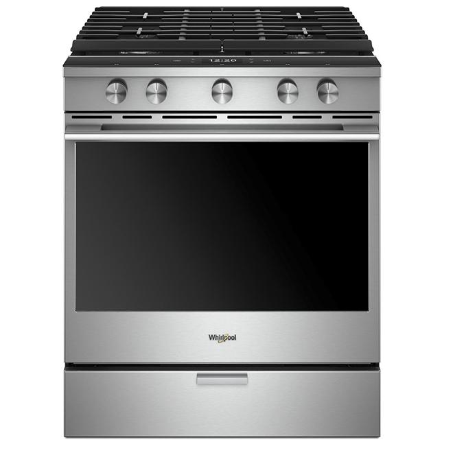 Cuisinière au gaz intelligente, encastrable, 5,8 pi³, inox