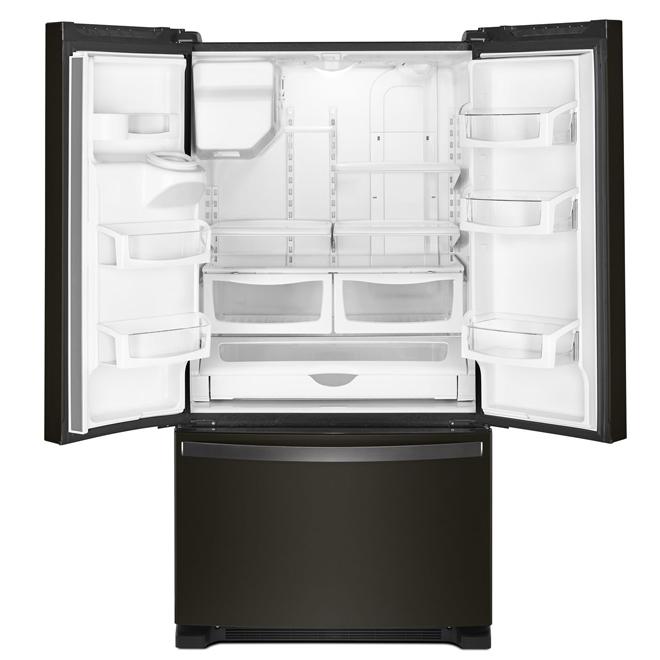 """Réfrigérateur à portes françaises, 36"""", 25 pi³, inox noir"""