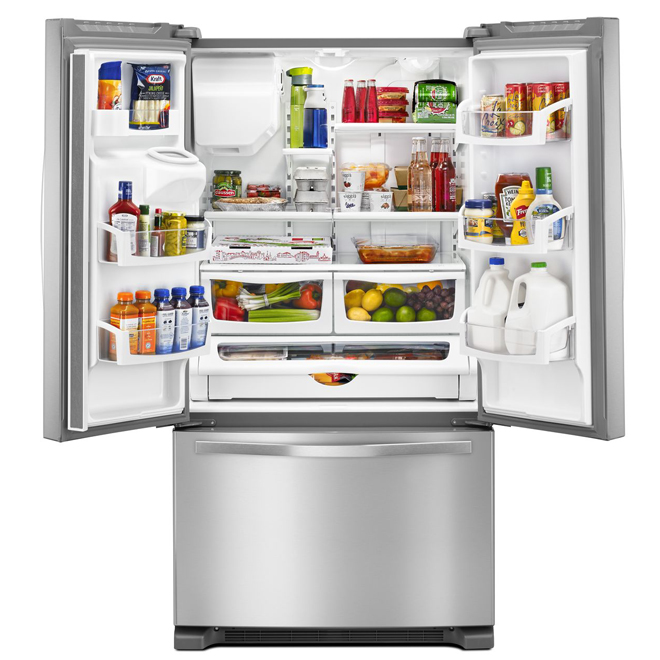 """French-Door Refrigerator 36"""" - 25 cu. ft. - Stainless Steel"""
