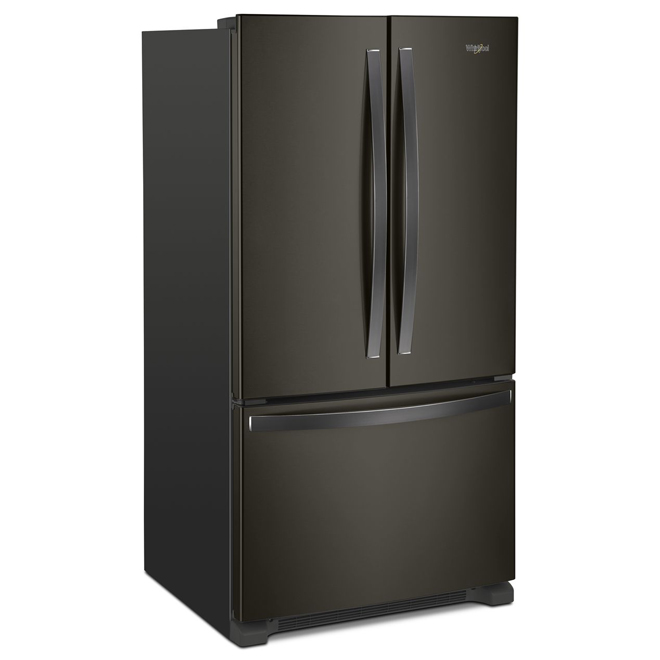 Refrigerator with Dispenser - 20 cu. ft - Black Stainless