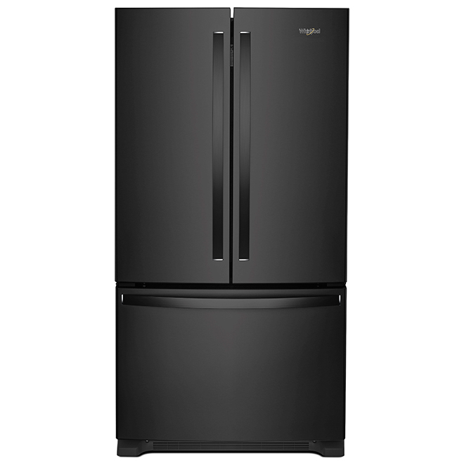 Refrigerator with Interior Dispenser - 25 cu. ft. - Black