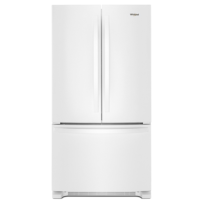 "French-Door Refrigerator - 33"" - 22 cu. ft. - White"