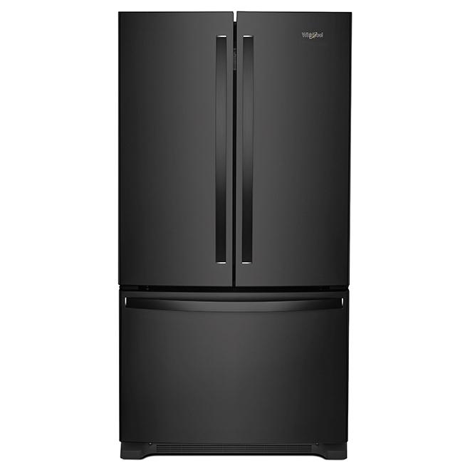 """French-Door Refrigerator - 33"""" - 22 cu. ft. - Black"""