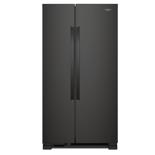 "Side-by-Side Refrigerator - 33"" - 21.7 cu. ft. - Black"
