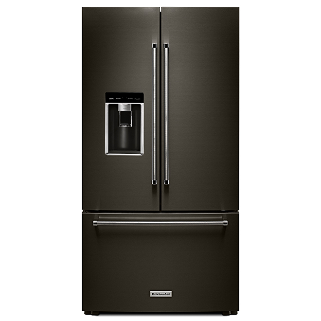 Refrigerator with Prep Zone - 23.8 cu. ft. - Black Stainless