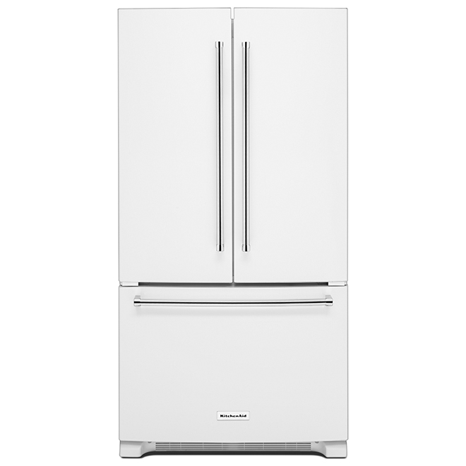 Réfrigérateur avec distributeur interne, 25 pi³, blanc