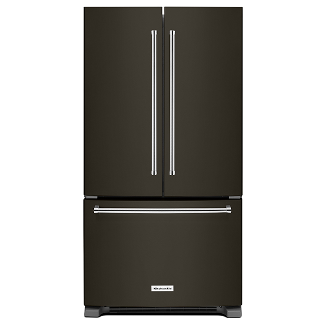 Refrigerator with Interior Dispenser -25 cu. ft -Black Steel