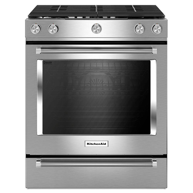 Gas Convection Front-Control Range - 5.8 cu. ft - Stainless