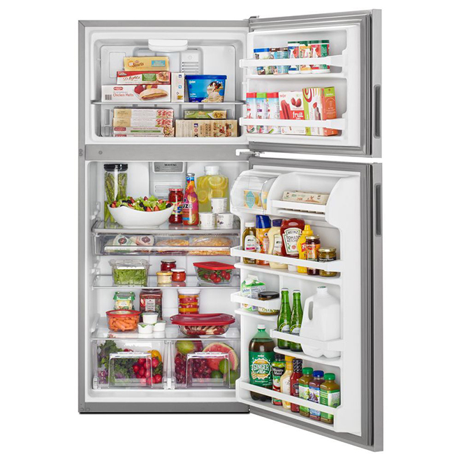 "Top-Freezer Refrigerator - 30"" - 18 cu. ft. -Stainless Steel"