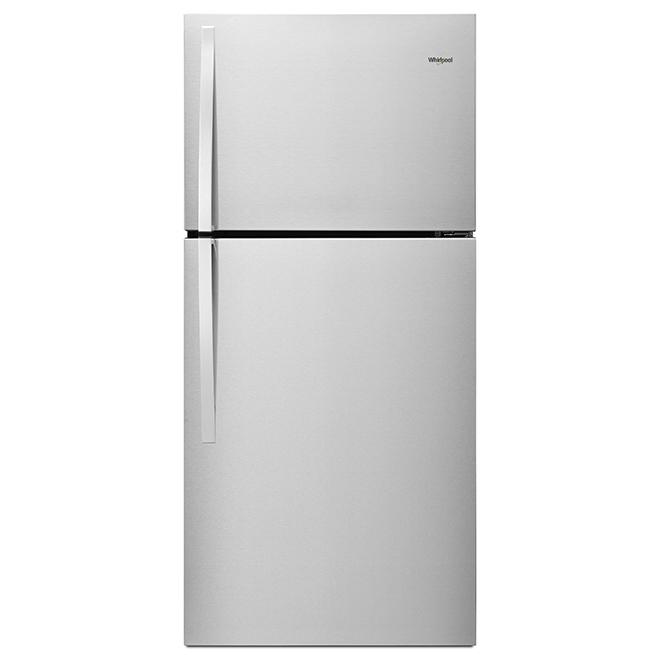 """Réfrigérateur à congélateur en haut, 30"""", 19,2 pi³, inox"""