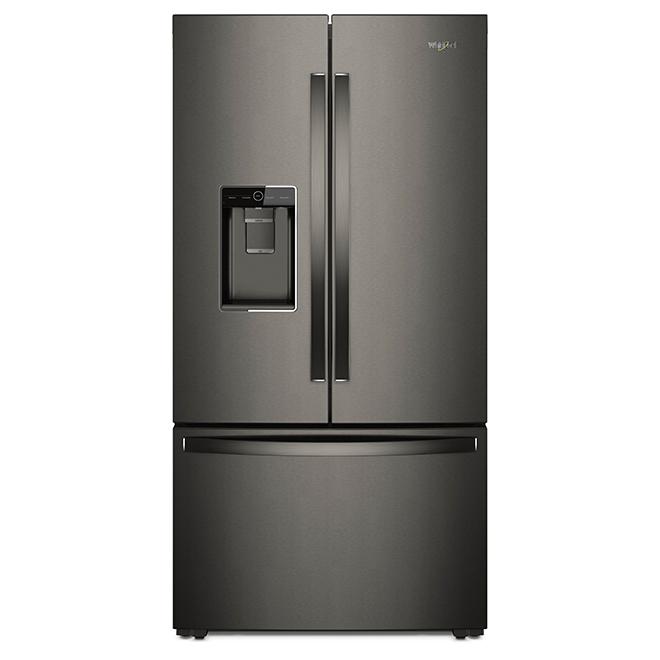 Réfrigérateur à profondeur de comptoir, 24 pi³, inox noir