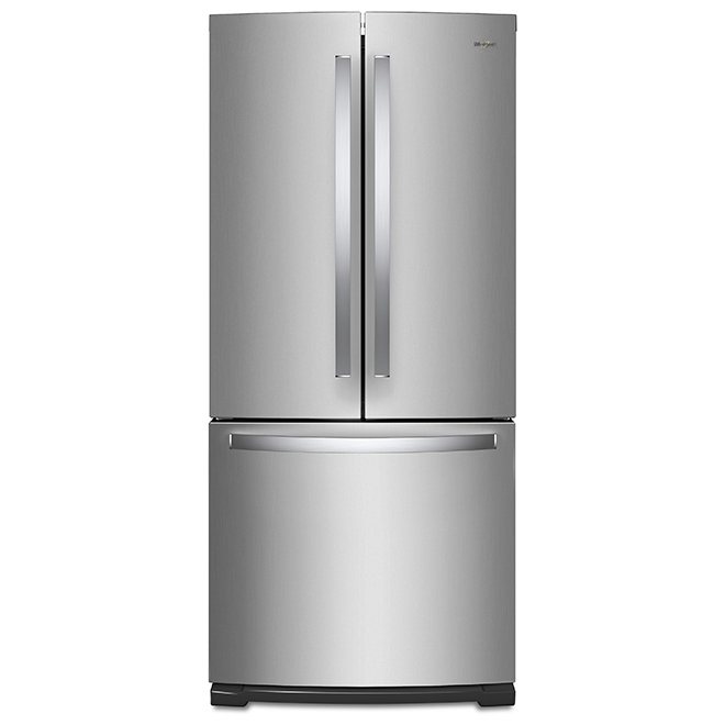 """Réfrigérateur à portes françaises, 30"""", 20 pi³, inox"""