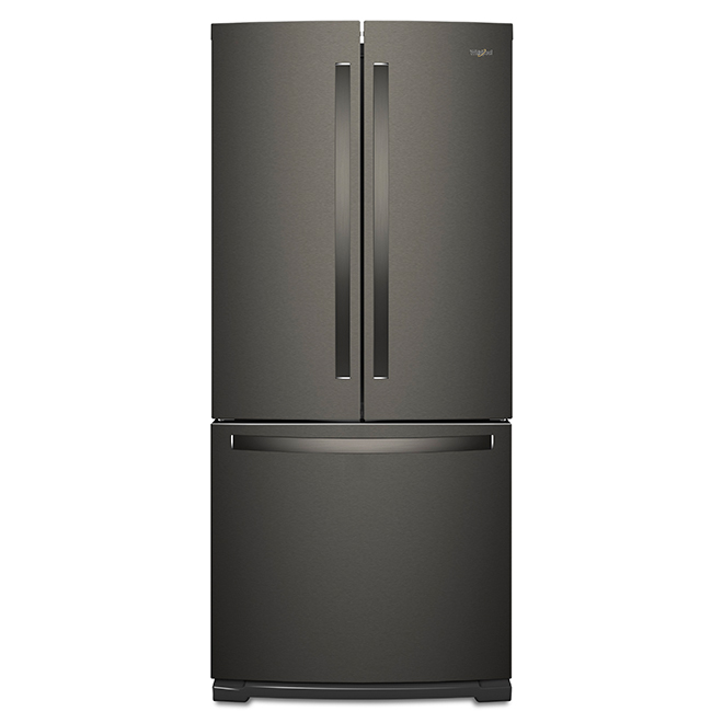 """French-Door Refrigerator -30"""" - 20 cu. ft. - Black Stainless"""