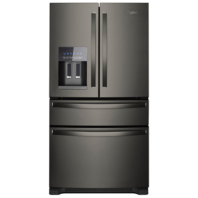 Refrigerator with Extra Drawer - 25 cu. ft - Black Stainless