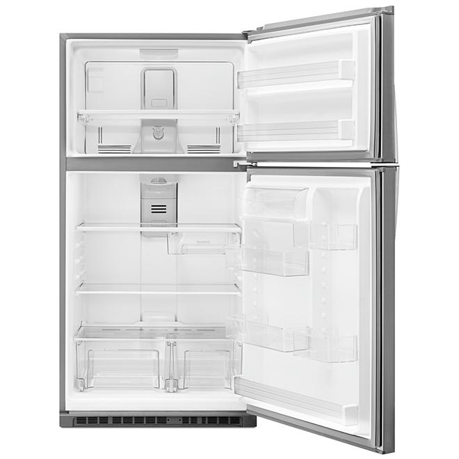 "Top-Freezer Refrigerator - 28"" - 14 cu. ft. - Stainless Steel"