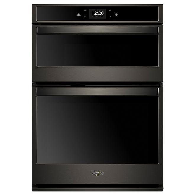 Oven/Microwave Oven Combination - 4.3 cu. ft./1.4 cu. ft. - Black Steel