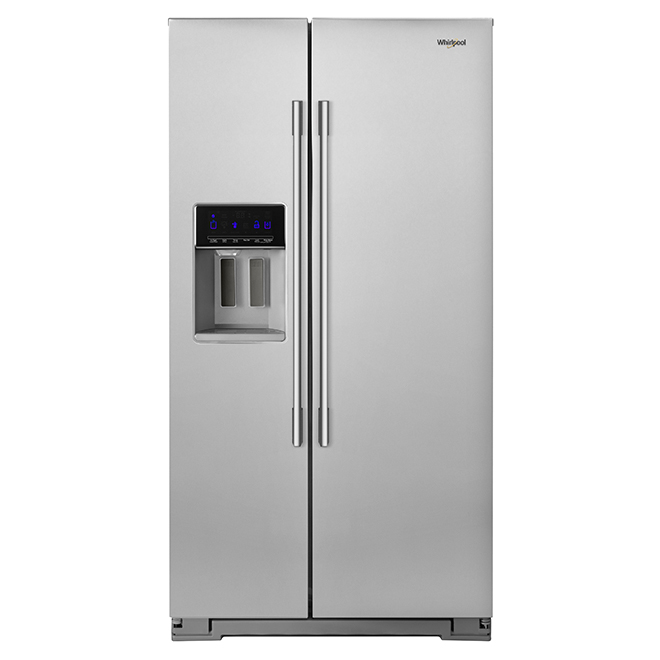 Side-By-Side Refrigerator - 21 cu. ft. - Stainless Steel