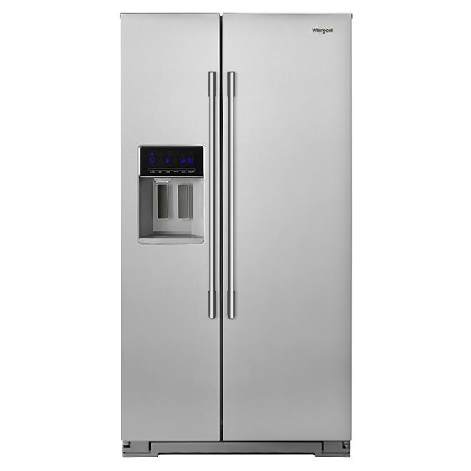 Réfrigérateur côte-à-côte, 21 pi³, acier inoxydable