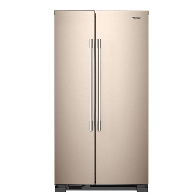 Side-By-Side Refrigerator - 25 cu. ft. - Bronze