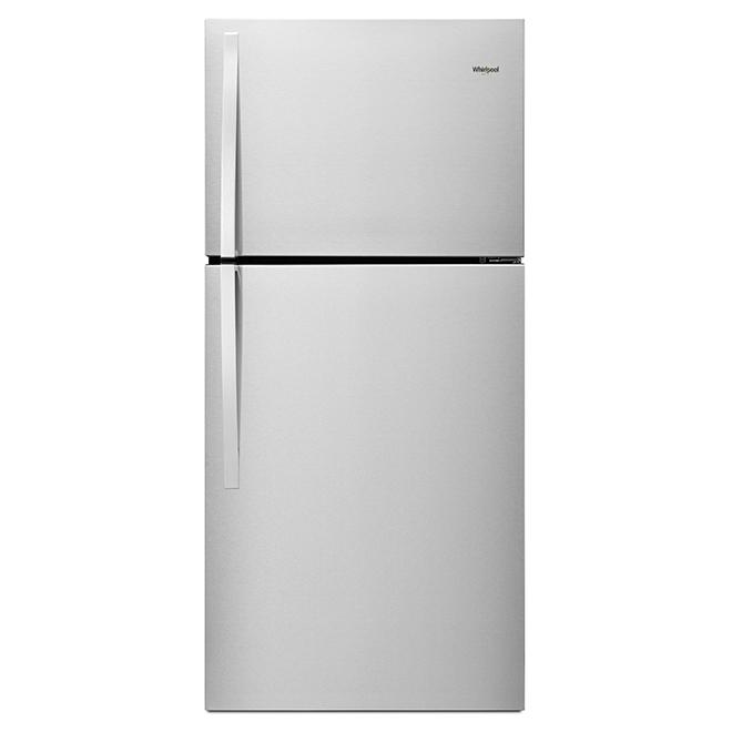 Top Freezer Refrigerator - 19 cu. ft. - Stainless Steel
