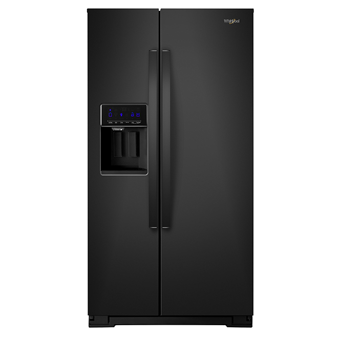 Refrigerator with Water/Ice Dispenser - 28 cu. ft. - Black