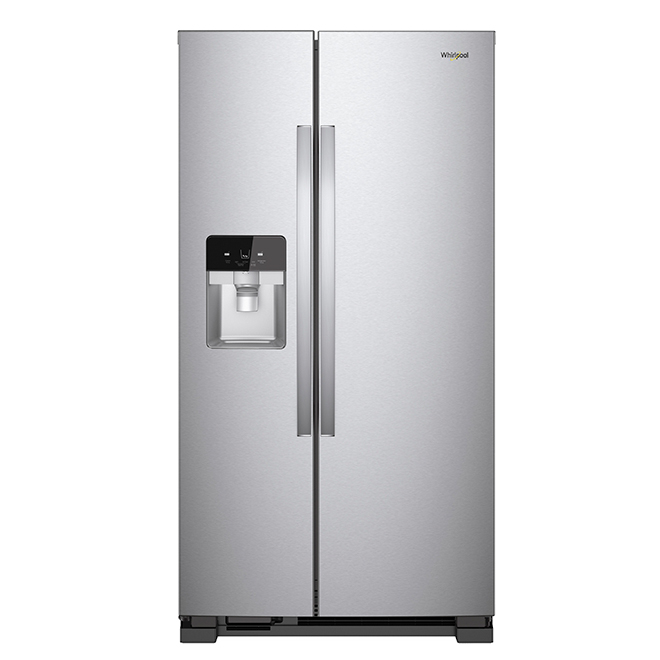 Side-By-Side Refrigerator - 25 cu. ft. - Stainless Steel