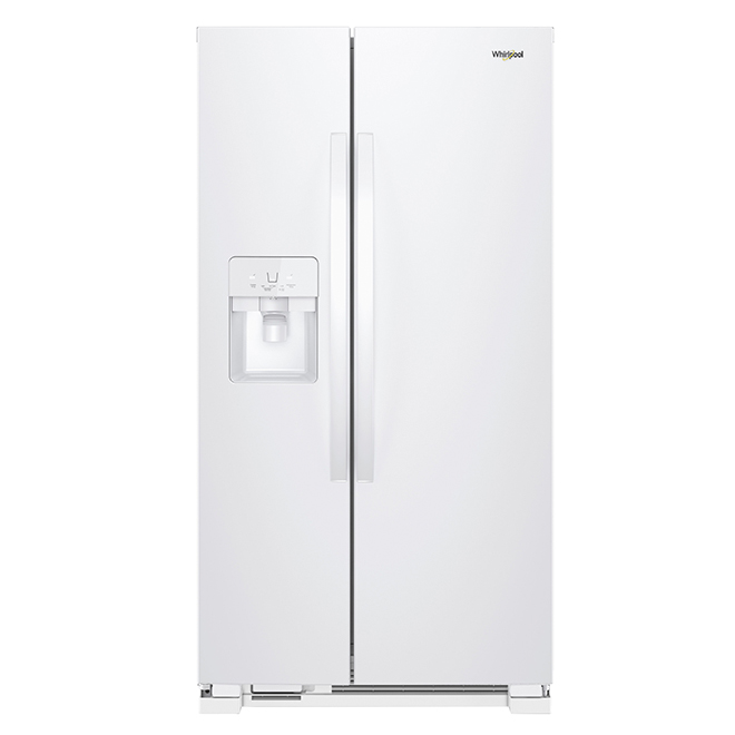 Side-By-Side Refrigerator - 25 cu. ft. - White