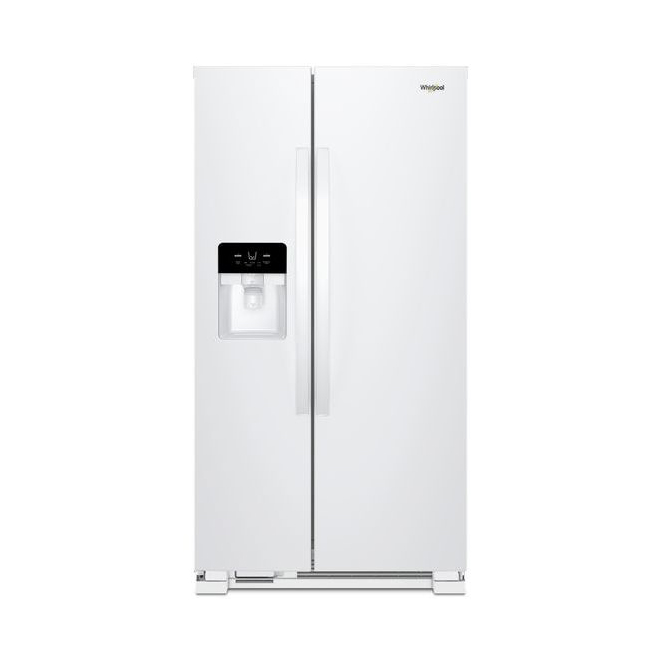Refrigerator with Water/Ice Dispenser - 21 cu. ft. - White