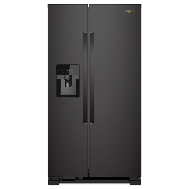 Refrigerator with Water/Ice Dispenser - 21 cu. ft. - Black