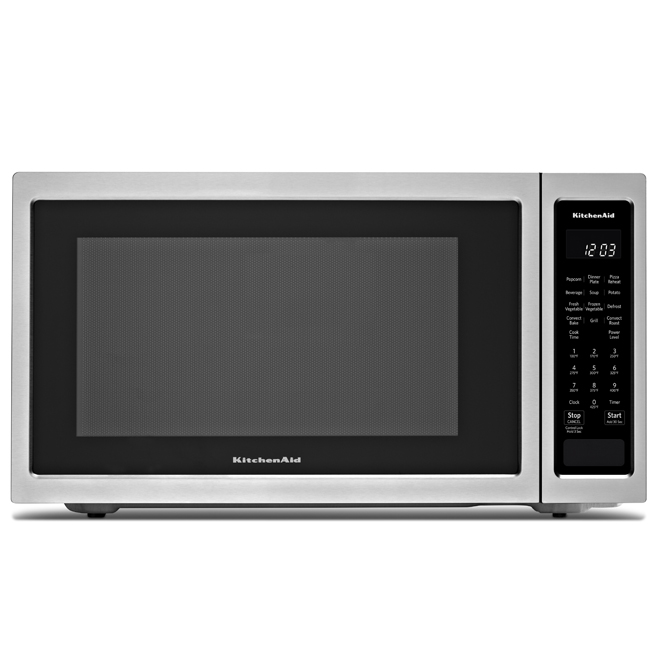 Four micro-ondes à convection KitchenAid, 1,5 pi³, 1400 W, inox
