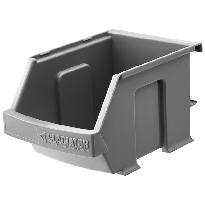 "Hanging Storage Bin - 4 1/2"" x 4"" x 7"" - Grey - 3/PK"