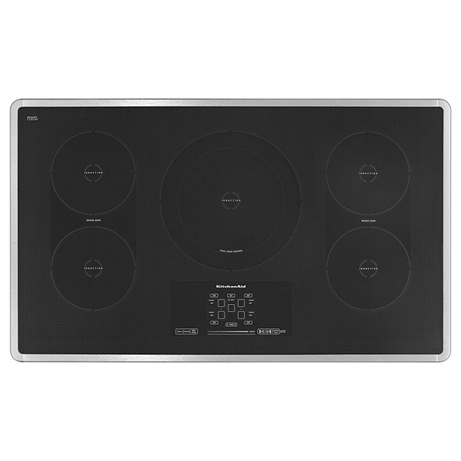 """36"""" Induction Built-in Cooktop - Stainless Steel"""