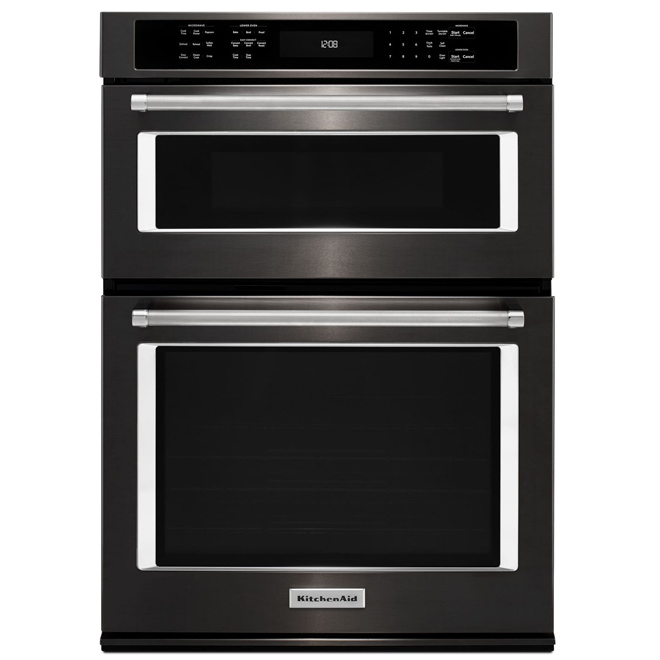 "Oven Combination with Even-Heat(TM) Convection - 30"" - Black"