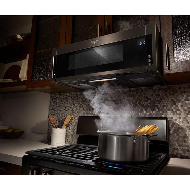 Whirlpool Over The Range Microwave 1 1 Cu Ft Black Stainless Steel Ywml75011hv Rona