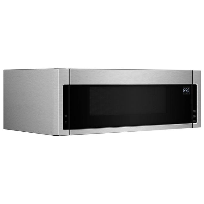 Four micro-ondes avec hotte intégrée, 1,1 pi³, 900 W, inox
