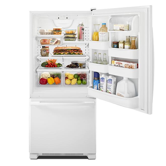 "Bottom Freezer Refrigerator - 30"" - 18.7 cu.ft. - White"