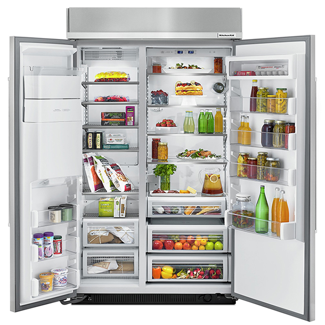 KitchenAid Built-In Side-by-Side Refrigerator - 29.5 cu.ft - SS